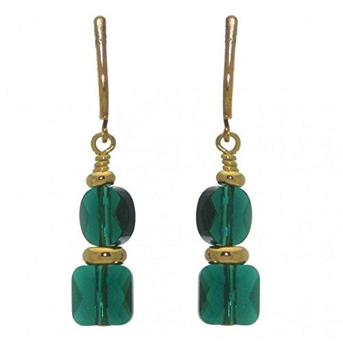 ragd-Clip auf Ohrringe (Emerald Green Ohrringe Modeschmuck)
