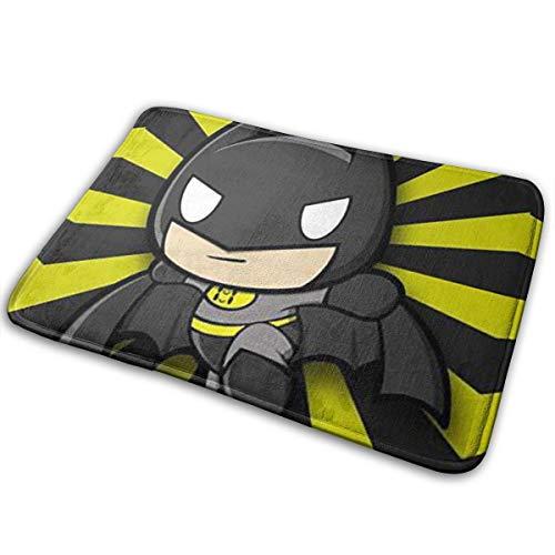 Greatbe Willkommenstür Teppich Chibi Batman Indoor Outdoor Badezimmer Dekor Fußmatten Gummi rutschfest 40 X 60 cm