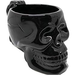 Taza de café de calavera de porcelana de cerámica