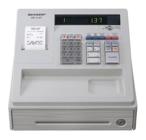 SHARP XEA137WH Elektronische Kasse XE-A137, weiß