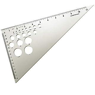 Alumicolor Ludwig Precision 12-Inch 30-60-90-Degree Triangle