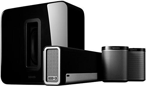 Sonos 5.1 Heimkino Set | System mit einer PLAYBAR, einem SUB und einem Paar PLAY:1 (schwarz)