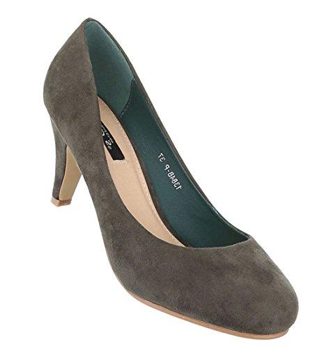 Ballerinas Olive (Damen Schuhe 14948 Pumps Olive 38 | Schuhcity24)