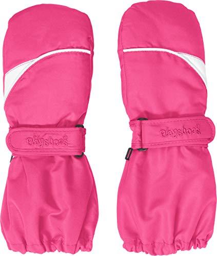 Playshoes Kinder Fäustlinge mit Thinsulate-Technik und langem Schaft warme Winter-Handschuhe mit Klettverschluss, pink, 3 -