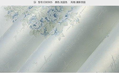 Komfortable Wallpaper blauen Buchstaben Klassenzimmer Schlafzimmer Wohnzimmer Hintergrund, Hellblau, nur das Hintergrundbild (Komfortable Buchstaben)