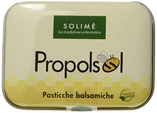 Propolsol Pasticche balsamiche per le vie respiratorie con Propoli ed Eucalipto 45 g Prodotto erboristico made Italy