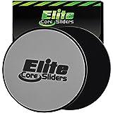 2 Core Sliders («Glisseurs pour le tronc») - Disques de grande qualité pour l'entraînement sur Amazon - double face pour une utilisation sur de la moquette ou du parquet - Très efficace pour le tronc et les exercices abdominaux....