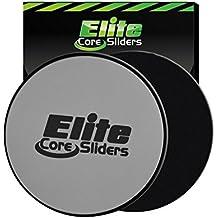 Elite Sportz core sliders per addominali formazione - gliders dischi fitness allenamento attrezzature per the pavimento - 2 dischi per allenamento