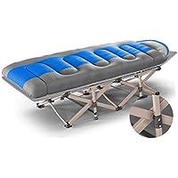 Klappstühle Bett-Siesta-Bett-Lager-Bett-tragbarer Büro-Schlafen-Stuhl Portable und Leichtgewichtler, verstärktes quadratisches Rohr, leise (Farbe : Blau) preisvergleich bei kinderzimmerdekopreise.eu