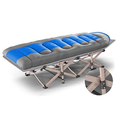 Letto singolo letto pieghevole letto siesta letto da ufficio portatile poltrona da ufficio portatile e leggero, tubo quadrato rinforzato, silenzioso (colore : blu)
