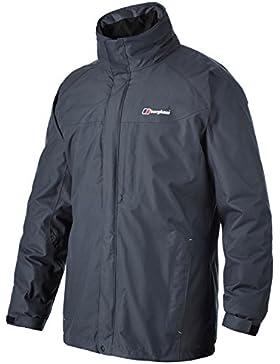 Berghaus hombres RG Gamma Long chaqueta impermeable y Little Hotties calentadores de mano (un par), hombre, gris...
