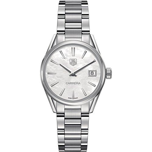 TAG Heuer Carrera Damen-Armbanduhr 32mm Armband Edelstahl + Gehäuse Quarz Analog WAR1311.BA0778