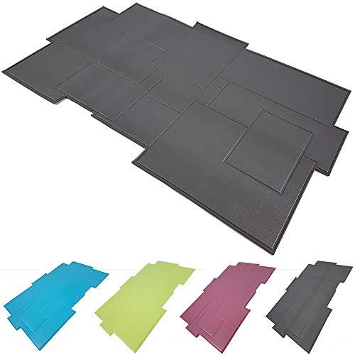 Power-Preise24 Badteppich 50 x 80 cm Duschmatte aus PVC Antirutschmatte Bad Dusche Vinylbeschichtet Badvorleger, Farbe:Anthrazit
