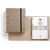 Miquelrius 20279 - Carpeta bloc notebook ecotriangles m (DIN A4, 210 x 297 mm, 100 hojas de 80 g/m², 4 anillas tipo D de 35 mm)