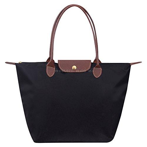 Wocharm Womens Handbags Shoulder Bag Messenger Bag Nylon Tote Bag Ladies  Shopping Folding Tote Beach Travel 10fbca70d8386