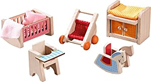 HABA - 301989 pequeños Amigos - Muebles de casa de muñecas guardería