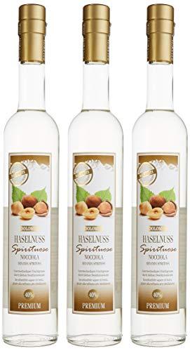 DOLOMITI Haselnuss-Schnaps Premium Spirituose 40% vol.   Haselnussschnaps   3 x 0.5 Liter