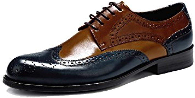 Cordones De Los Hombres Hombres Zapatos De Cuero Casual Negocios Usable Transpirable Absorción De Choque Tendencia... -
