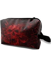 Fire Skull Art Magic Makeup Bag Lazy Cosmetic Bag Portanle Travel Handbag