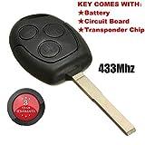 katur 3Tasten 433,92MHz Fernbedienung Schlüssel Klinge FOB für Ford/Focus für Galaxy/C Max/Mondeo/Fiesta