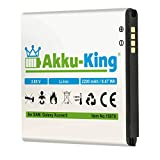 Akku-King Batterie pour Samsung Galaxy Active Neo, Galaxy Xcover 3, SM-G388 - remplace EB-BG388BBE - Li-ION 2200mAh
