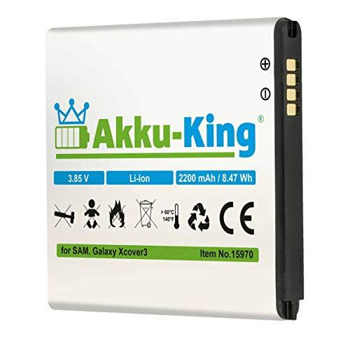 Akku-King Akku ersetzt Samsung EB-BG388BBE - Li-Ion 2200mAh - für Galaxy Xcover 3, Galaxy Active Neo, SM-G388