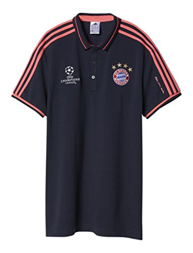 adidas Herren Kurzarm Poloshirt FC Bayern UCL Night Navy/Flash Red S15