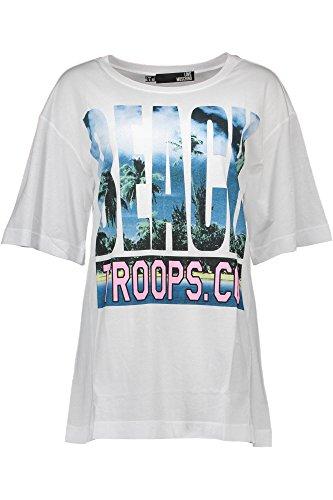 Love Moschino W 4 F19 03 M 3519 T-Shirt Maniche Corte Donna BIANCO A00