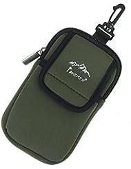 nalmatoionme Multifunktional Radio Phone Gadgets PU Halterung Für Klettern Camping Wandern Tasche Rucksack