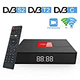 Magicsee C400 Plus DVB T2 S2 Satellite Receiver Android 7.1 Smart TV Box S912 Octa Core 3 Ram 32 Rom Mini PC Dual Band 2.4G/5g WiFi 4K Bluetooth