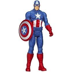 Figura de acción del Capitán América de Los Vengadores de Marvel, serie Titan Hero.