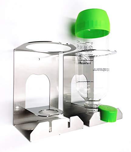 Abtropfhalter kompatibel für KitchenAid Wassersprudler, Sodastream, Wassermaxx Kunststoffflaschen, aus Edelstahl (2)