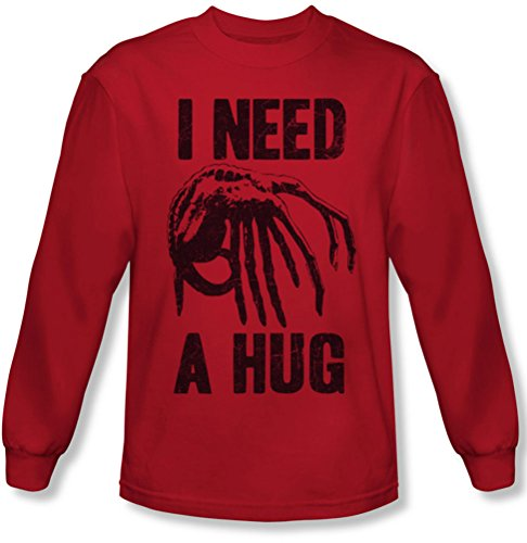 Alien - Männer brauchen eine Umarmung Langarm T-Shirt Red