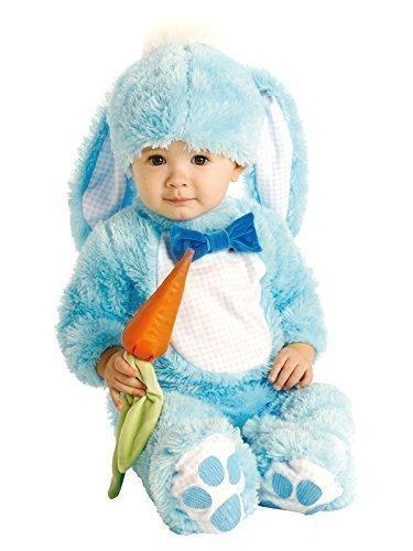 Baby Kinder Hasen Kostüm - Blau, 0-6 Monate