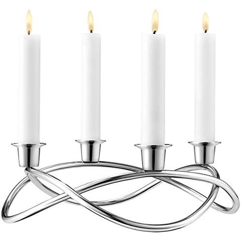 Georg Jensen Season Edelstahl-Kerzenständer