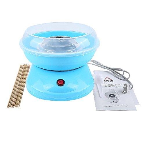 Flyelf Macchine per zucchero filato Cotton Candy Famiglia 3 colori (cucchiaio di misurazione+ bastoni di bambù) (Blu)