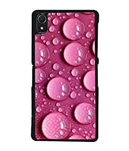 Snapdilla Designer Back Case Cover for Sony Xperia Z2 (5.2 Inches) (Rain Bubble Abstract Transparent Cool )