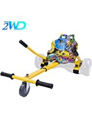 2WD Hoverkart para Hoverboard, Go-Kart Conversión Kit Patinete Eléctrico, Longitud Ajustable,