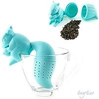 preadvisor (TM) Eichhörnchen Form Tee-Ei lose blättersieb Bag Tasse Filter Friends auf, 1x blau