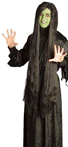 Islander Fashions Damen Scary Hexe Schwarze per�Cke 40 Zoll Lange Damen Halloween Party Zubeh�r Einheitsgr��e