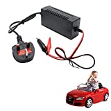 MASO DC 12V 1000mA Battery Charger Adapter For Sealed Lead Acid Batteries Kids Electric Ride on Toy Car Bike (UK Plug)