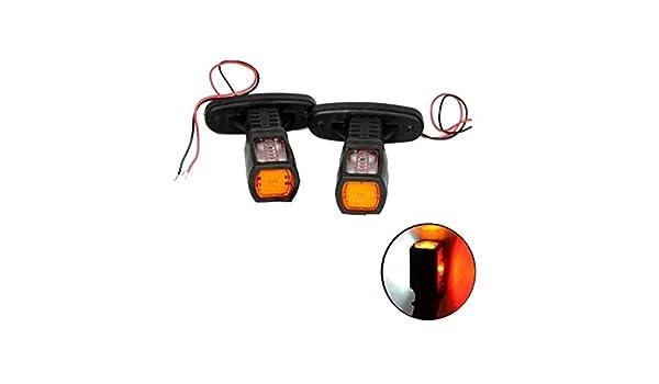 IVATECH 2 X 12V 24V LED Feux De Gabarit Lateraux Countour Camion Remorque Bus Shassis Rouge Orange Blanc