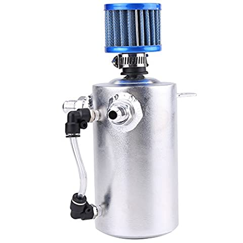 Qiilu 0.5L Universal Réservoir Oil Catch Tank Réservoir d'huile Kit,
