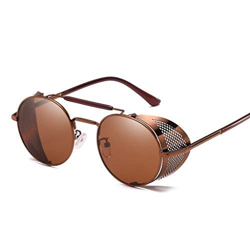 YHEGV Europa und Amerika Dampf Gläser personalisierte Windschutzscheibe Sonnenbrille Retro-Farbfilm reflektierenden Froschspiegel