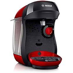 Bosch TAS1003 Tassimo Happy Kapselmaschine,1300 W, platzsparend, große Getränkevielfalt, just red Bosch Tassimo