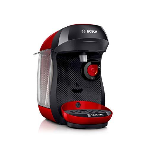Bosch TAS1003 Happy Kapselmaschine, Kunststoff, rot schwarz