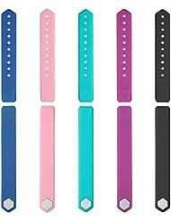Lintelek Bracelets de rechange TPE Bracelet de Remplacement pour Fitness Tracker d'Activité ID115 / ID115HR, 5 Couleurs Disponibles