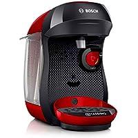 Bosch Tas1003 Cafetera Monodosis Multibebida 1400 W, 0.7 litros, Rojo/Negro