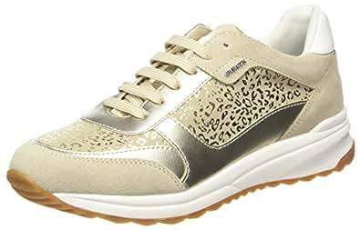 Geox Avery A, Sneakers Basses Femme, Beige (Lt Taupe/Beige), 40 EU