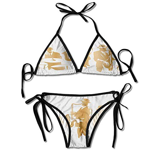 Women's Beachwear Bikini,Jazz Band Playing The Sexy Bikini 2 Pieces